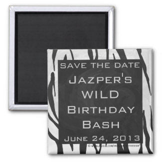 Tiger Black and White Print Refrigerator Magnets