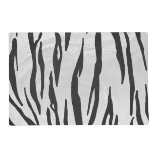Tiger Black and White Print Placemat