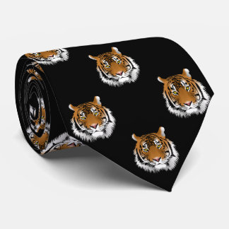 Tiger Black Background Tie