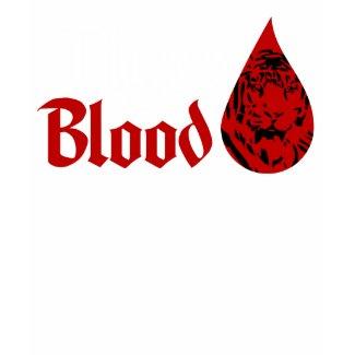 Tiger Blood (Black) Ladies Fashion Twofer shirt