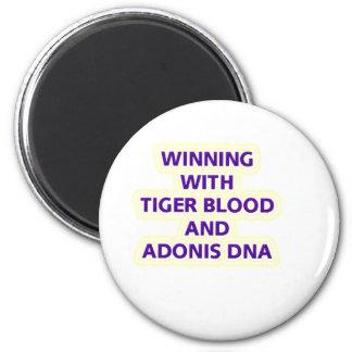 TIGER BLOOD 2 INCH ROUND MAGNET