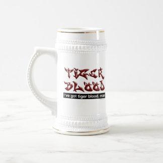 Tiger Blood Beer Stein