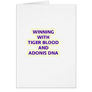 TIGER BLOOD CARD