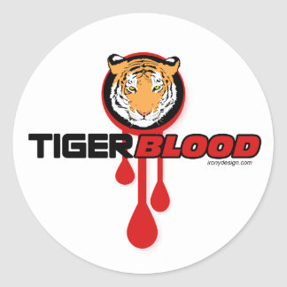 Tiger Blood Classic Round Sticker