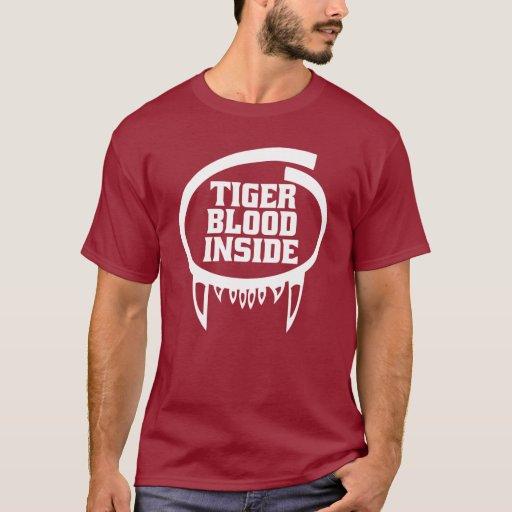 Tiger Blood Inside Shirt for dark apparel