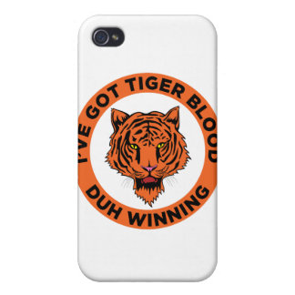 Tiger Blood iPhone 4 Cover
