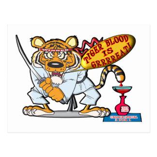 Tiger Blood Is Grrrreat Postcard