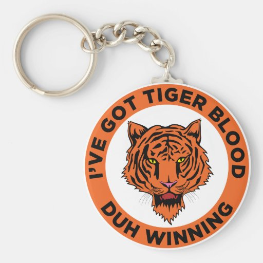 Tiger Blood Keychain