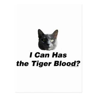 Tiger Blood Postcard