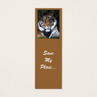 Tiger bookmark, Save My Place Mini Business Card