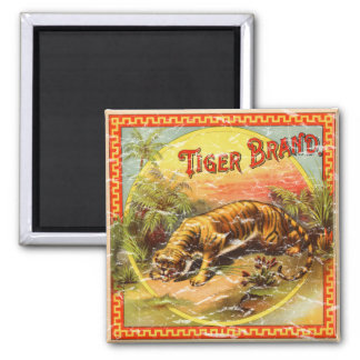 Tiger Brand - distressed Magnet