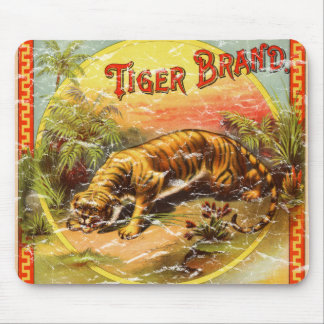 Tiger Brand - distressed Mouse Pad