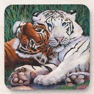 Tiger buddies drink coaster