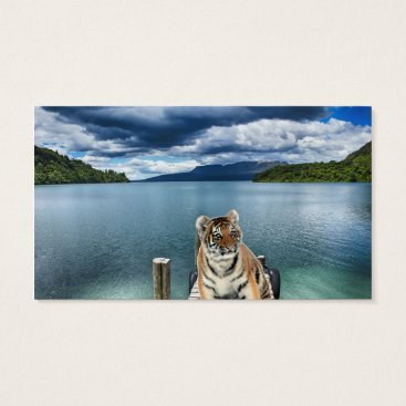 Beach Themed Tiger Business Card