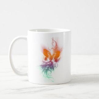 Tiger & butter fly coffee mug