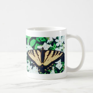 Tiger Butterfly Classic White Coffee Mug