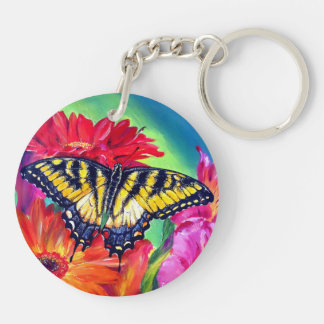 Tiger Butterfly Keychain