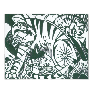 Tiger by Franz Marc, Black and White Fine Art Card