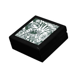 Tiger by Franz Marc, Black and White Fine Art Jewelry Box