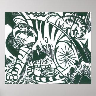 Tiger by Franz Marc, Vintage Expressionism Art Poster