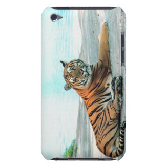 Tiger by river iPod touch case