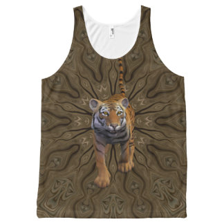 Tiger By The Tail. All-Over-Print Tank Top