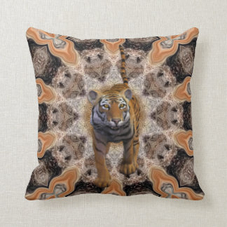 Tiger By The Tail. Throw Pillow