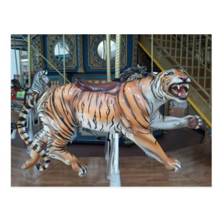 Tiger Carousel Postcard