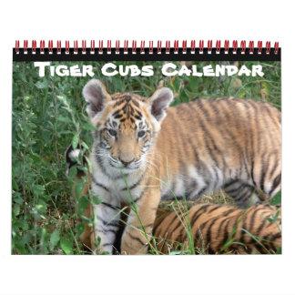 Tiger Cat Cats Cub Baby Cub Home Destiny Destiny'S Calendar
