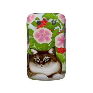 Tiger Cat in Patio Jungle Blackberry Bold Case