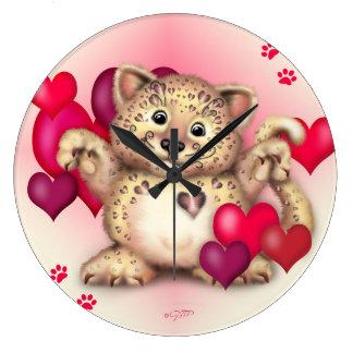 TIGER CAT LARGE ROUND CLOCK LARGE