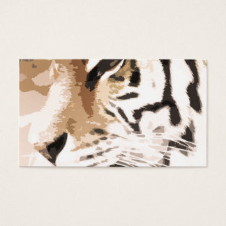 Tiger Cat print custom personalize Anniversaries Business Card