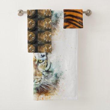 Bride Themed Tiger Cat Shower Bath Home Destiny'S Destiny Bath Towel Set