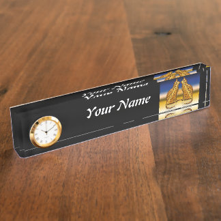 Tiger Cats Desk Name Plate