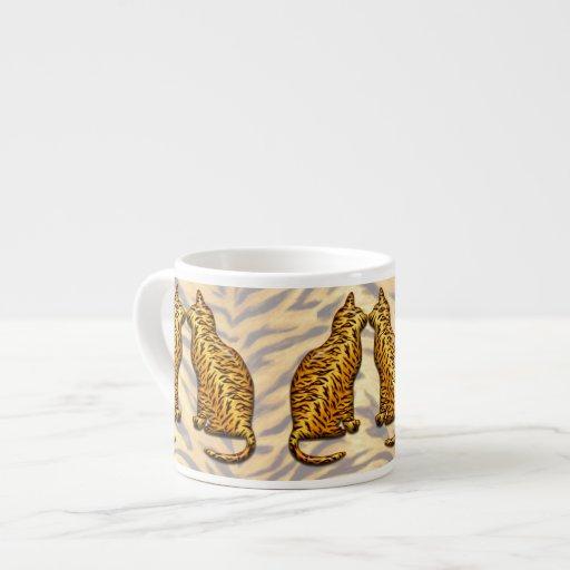 Tiger Cats Espresso Mug