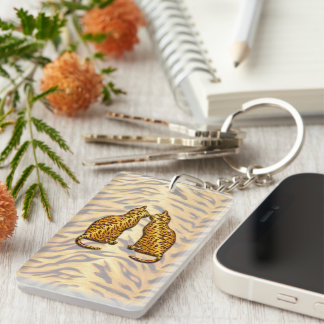 Tiger Cats Keychain