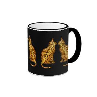 Tiger Cats Ringer Mug