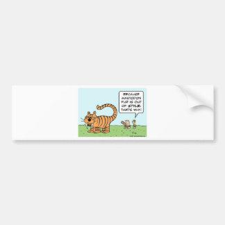 tiger caveman mastodon out of style bumper sticker