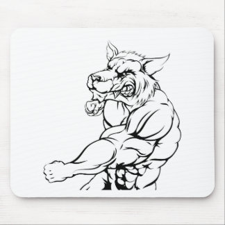 Tiger character fighting mouse pad
