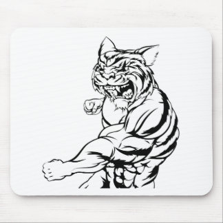 Tiger character punching mouse pad