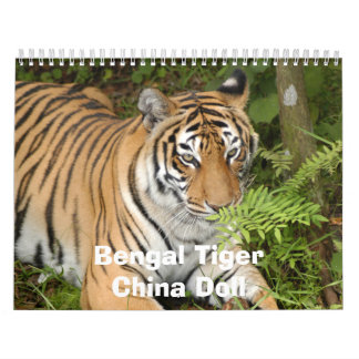 Tiger-China-Doll Calendar, Bengal TigerChina Doll Calendar