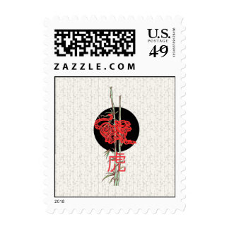 Tiger (chinese zodiac) stamps