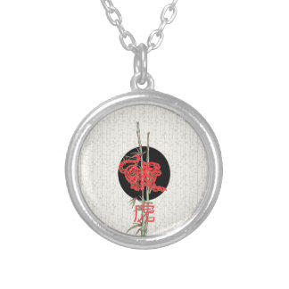 Tiger (chinese zodiac) silver plated necklace