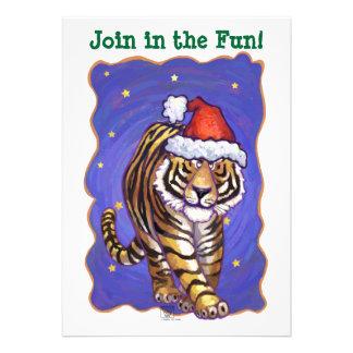 Tiger Christmas Custom Announcements