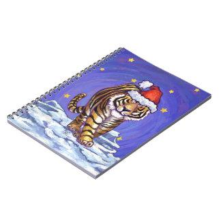 Tiger Christmas Spiral Notebook