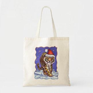 Tiger Christmas Tote Bag