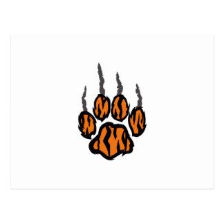 TIGER CLAW MARKS POSTCARD