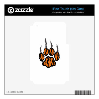 TIGER CLAW MARKS DECAL FOR iPod TOUCH 4G