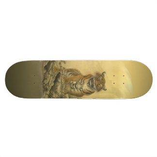 Tiger Climbing Rocks Skateboard