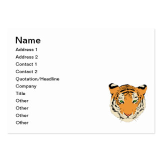 Tiger clip art business cards